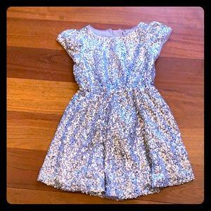 Gap Silver Sequin Dress